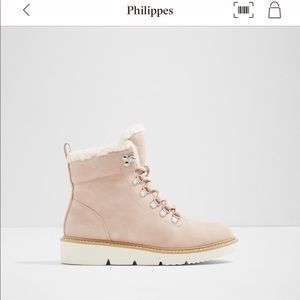Pink furry Aldo winter boots
